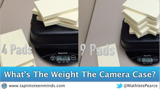 Camera Case and Pads of Paper Weigh In - What's the Weight of the Camera Case?