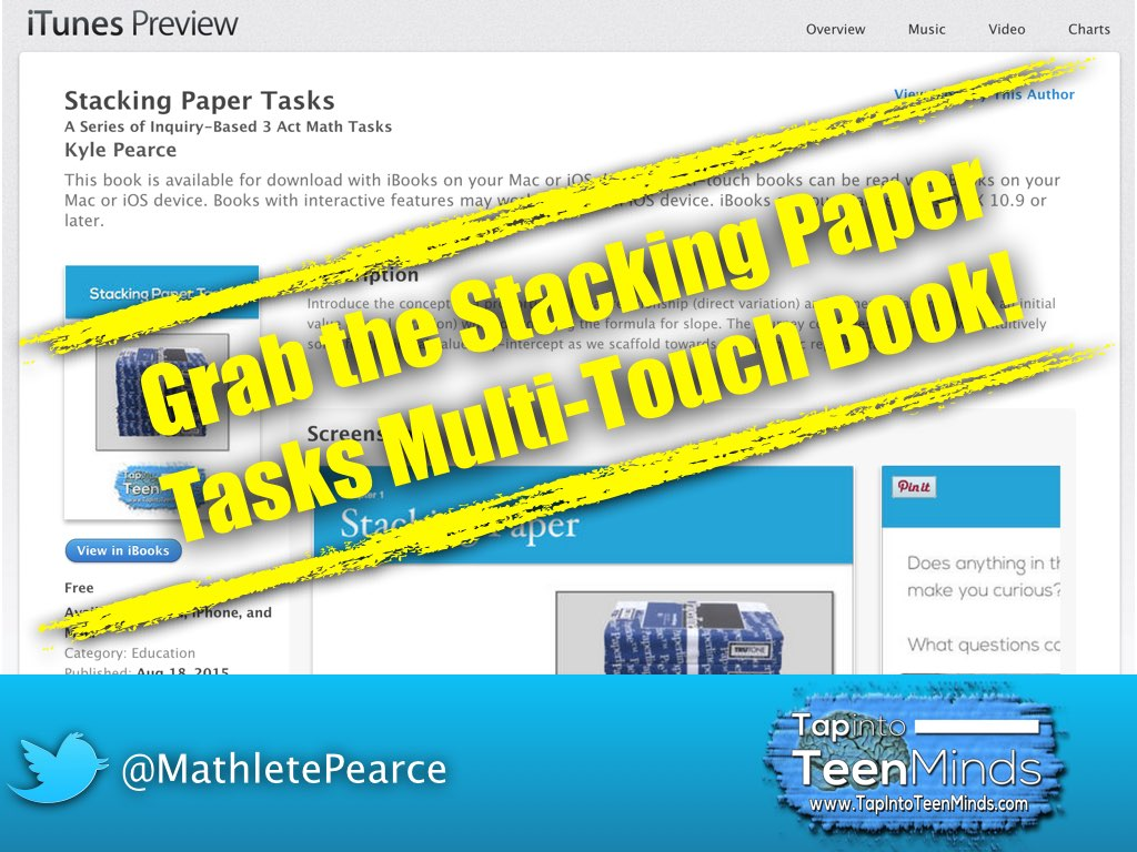 Grab the Stacking Paper Tasks Multi-Touch Book for @iBooks