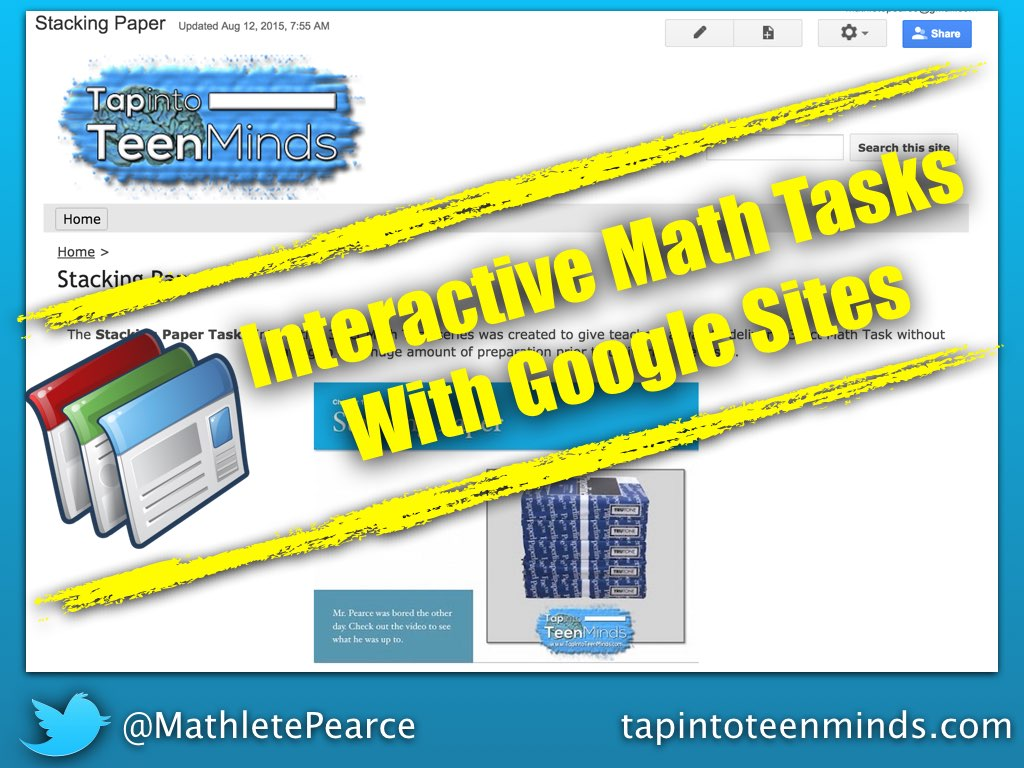 Creating Interactive Math Tasks With Google Sites