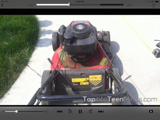 Curious Math iTunes U Course - 08 Mowing the Lawn Task Videos Play Right From iTunes