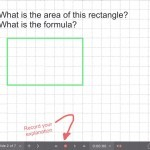 Explain Everything Area Investigation Learning Journey - 2 Area of Rectangle Formula