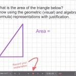 Explain Everything Area Investigation Learning Journey - 4 Area of Triangle Formula