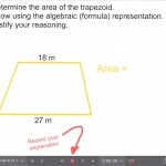 Explain Everything Area Investigation Learning Journey - 6 Area of Trapezoid Formula