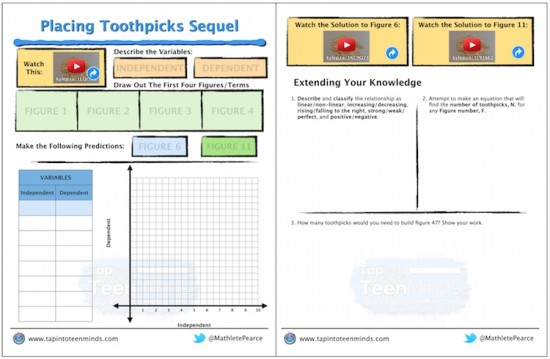 Placing Toothpicks Sequel 3 Act Math Task Template