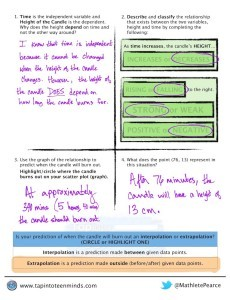 Week In Review #2 - Candle Burning Math Task Template Solutions Page 2