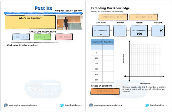 Week In Review #2 - R2D2 Post Its - Math Task Template Screenshot