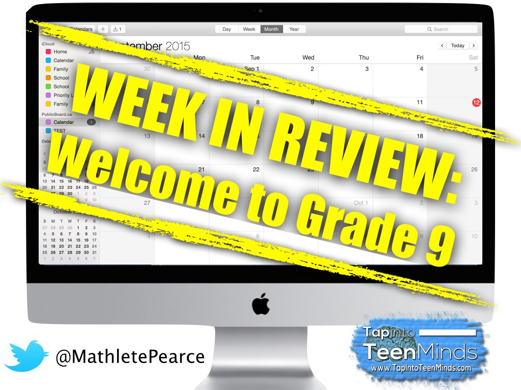 Week In Review #1: Welcome to Gr 9 Academic Math