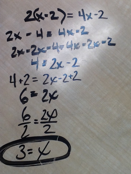Algebraic Approach to Solving Equations With Algebra