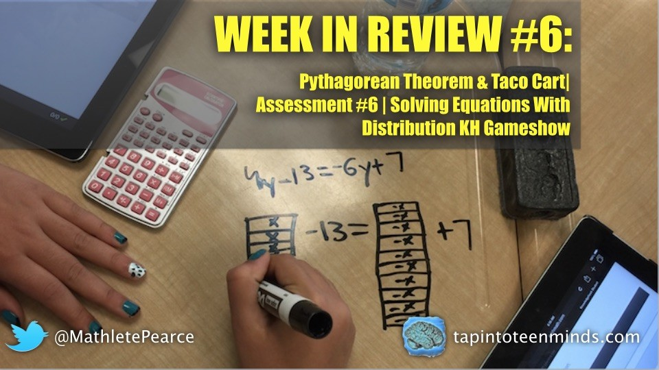 WIR #6 – Pythagorean Theorem, Equations, and Linear Relations