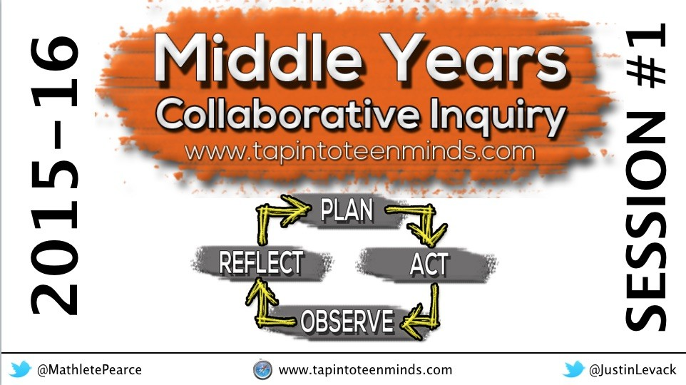 2015-16 Middle Years Collaborative Inquiry – Session #1
