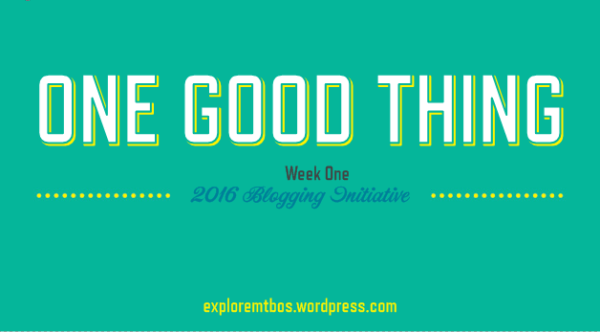 #MTBoS Blogging Initiative Week 1: One Good Thing