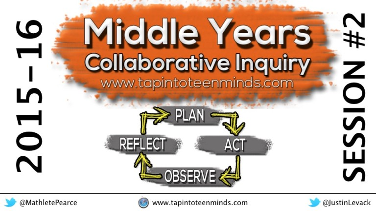 2015-16 Middle Years Collaborative Inquiry – Session #2