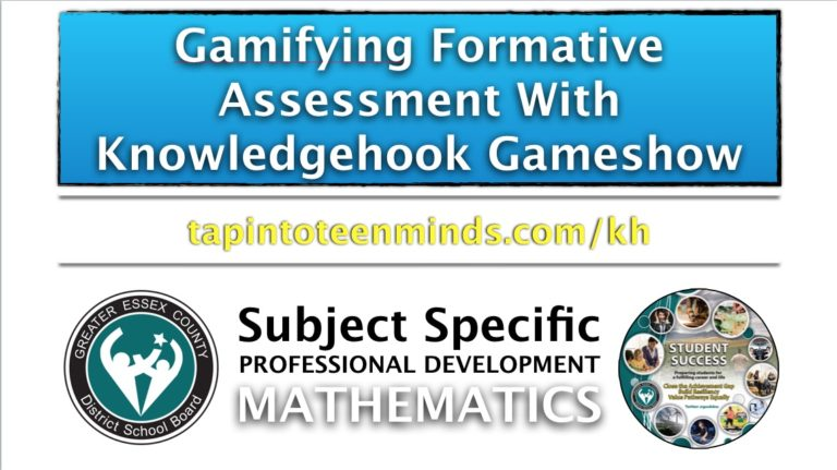 Gamifying Formative Assessment With Knowledgehook Gameshow
