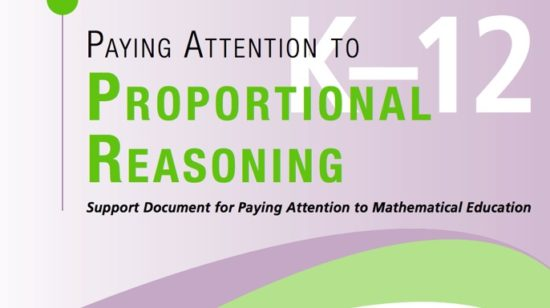Paying Attention to Proportional Reasoning Document