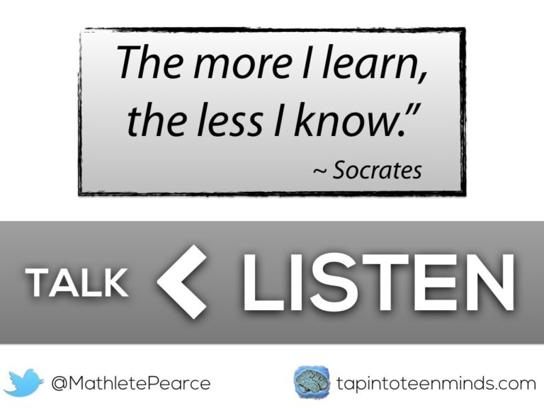 Talk Less, Listen More