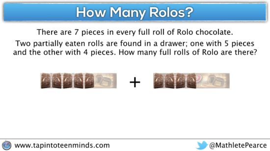 Fraction as Operator - How Many Rolos - Adding Rolo Fractions