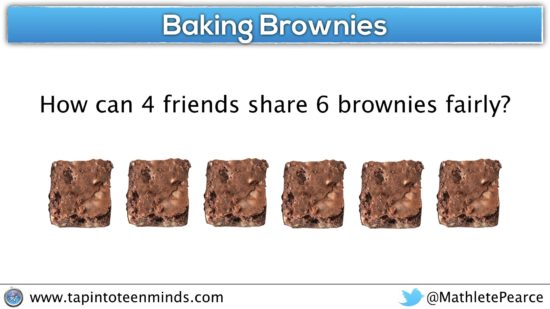 Fraction as Quotient - Baking Brownies Question