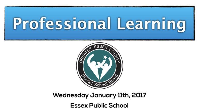 Essex Public School Based Learning (SBL)