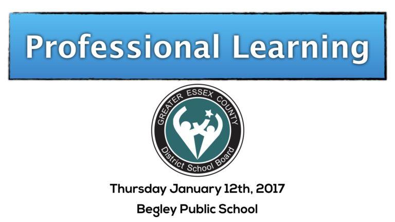 Begley Public School Based Learning (SBL)