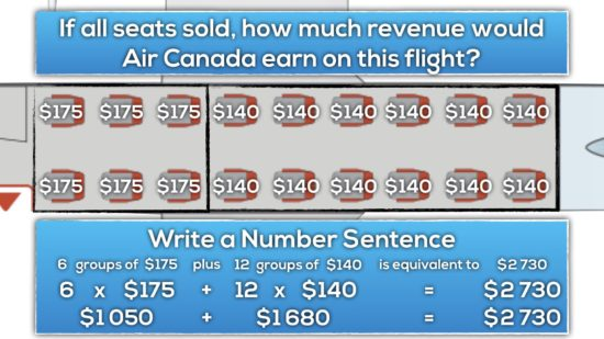 Airplane Task Extensions - Algebra - Revenue Number Sentence