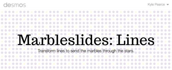 Desmos Marbleslides - Lines