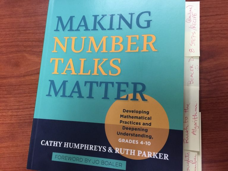 Making Number Talks Matter