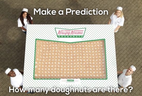Krispy Kreme Donut Delight 3 Act Math Task - Make a Prediction