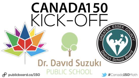 Canada 150 Math Challenge Kick-Off At Dr. David Suzuki PS