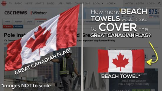 Act 1 - How Many Beach Towels Would It Take to Cover the Great Canadian Flag?