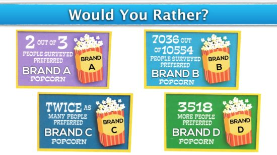 Would You Rather - Popcorn Brand A B C or D