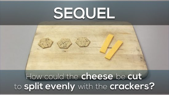 Cheese and Crackers 3 Act Math Task - Sequel Act 1 - 2 Slices of Cheese, 3 Crackers