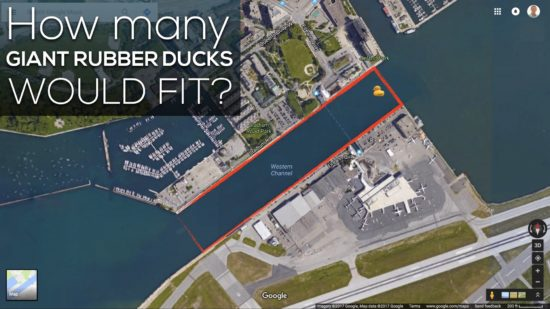 How many Giant Rubber Ducks Would Fit?
