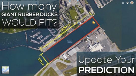 Giant Rubber Duck Sequel Act 2 - Western Channel Measurements - Update Your Prediction