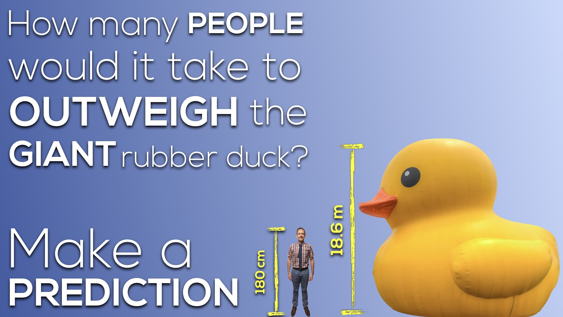 giant rubber duck vs cn tower 3 act math canada150math