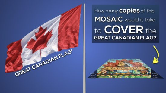 Massive Mosaic 3 Act Math Task 018 Extension 2 Act 1 How Many Mosaics Would It Take To Cover The Great Canadian Flag?