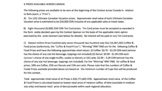 Roll Up The Rim Canada 150 3 Act Math Task.009 Tim Hortons Prizes Available