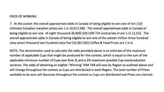 Roll Up The Rim Canada 150 3 Act Math Task.011 Tim Hortons Odds of Winning Roll Up The Rim