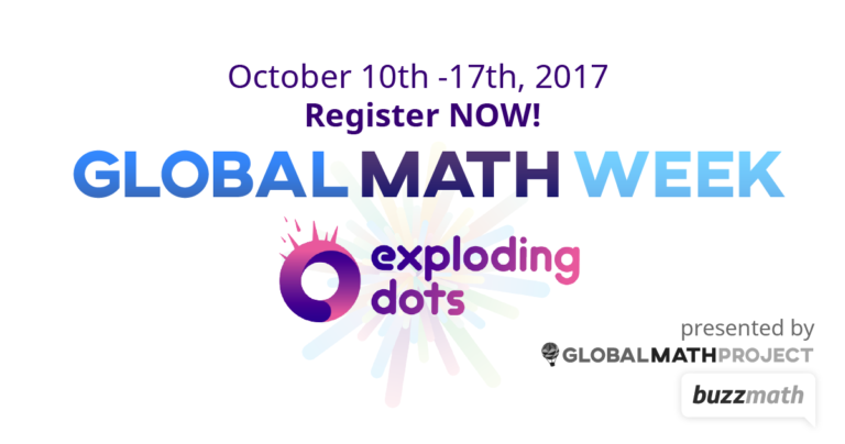 Exploding Dots for Global Math Week