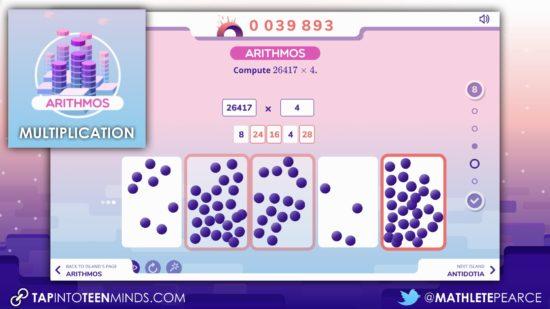 Global Math Week - Exploding Dots Island Summary - Island 4 Arithmos Multiplication