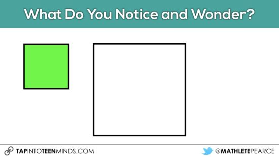 Cover It Up! K-4 Task 01 - What Do You Notice and Wonder