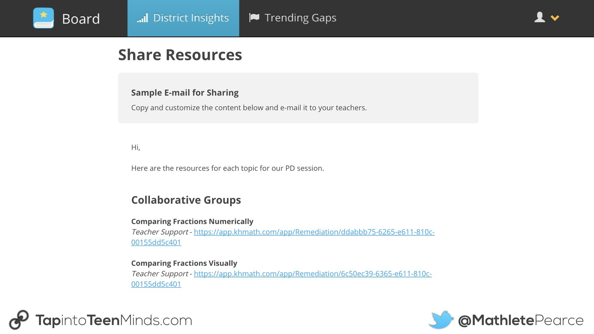 Knowledgehook Professional Learning Tools.021 Share Resources for PLC
