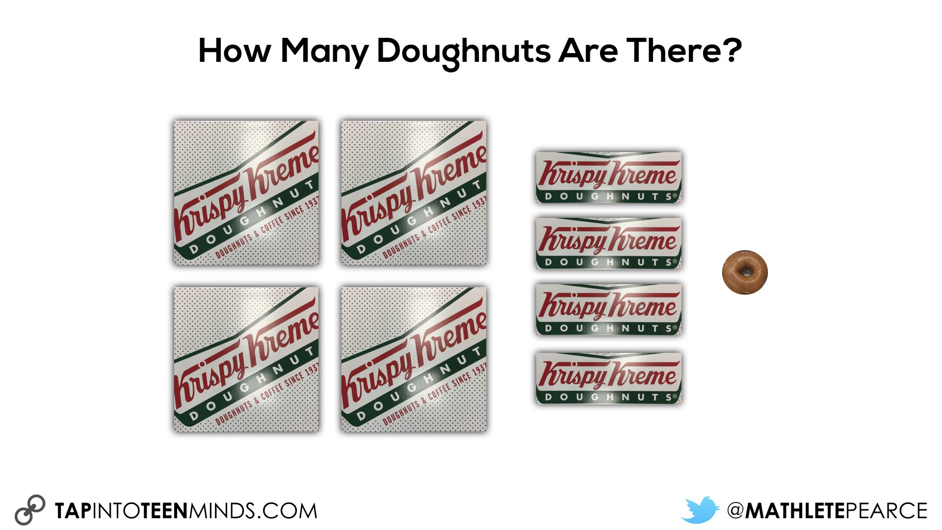 How many doughnuts squares strips and a single doughnut