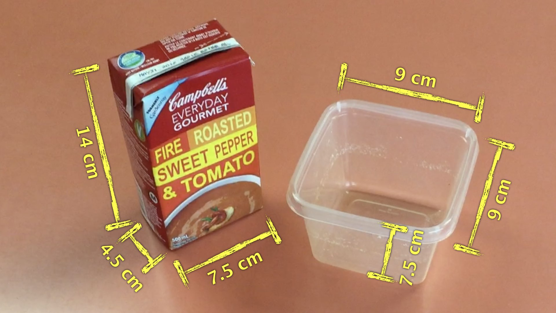 Soup Du Jour 3 Act Math - Act 2 Container Dimensions
